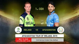 Ireland vs Afghanistan, 1st ODI || Highlights  CRICKET || Afghanistan tour of Ireland 19th MAY 2019