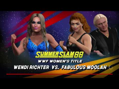 WWE 2K17  The Fabulous Moolah VS Wendi Richter