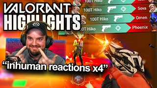 ANOTHER INHUMAN REACTIONS 4K!😱 | HIKO VALORANT STREAM HIGHLIGHTS