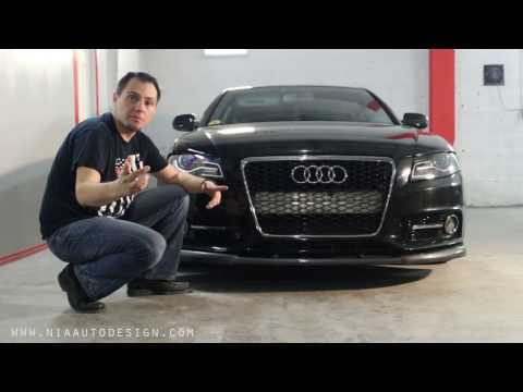 NIA Audi A4 Front Splitter How to install DIY