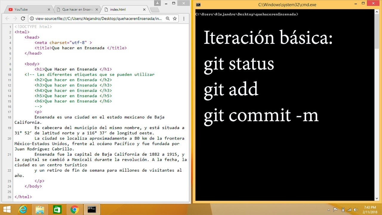 Estructura Basica De Una Pagina Web En Html5 E Iteracion Basica En Git
