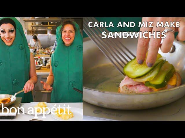 Miz Cracker and Carla Make Friendly Sandwiches   From the Test Kitchen   Bon Appétit