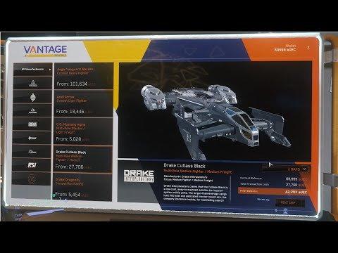 Star Citizen How To Buy and Rent Ships With IN GAME MONEY