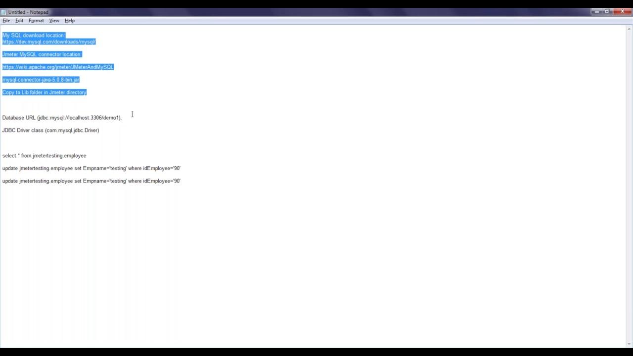 How Jmeter JDBC Request works with MySQL DB