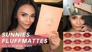 SUNNIES FACE FLUFFMATTES ON MORENA SKIN | first impression + review