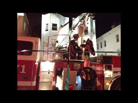 YONKERS FIRE DEPARTMENT, RESPONDING AND ON SCENE, OF A 2 ALARM FIRE IN YONKERS, NEW YORK.
