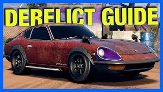 Need for Speed Payback : NISSAN 240Z DERELICT GUIDE!! (NFS Payback Freeroam Gameplay)