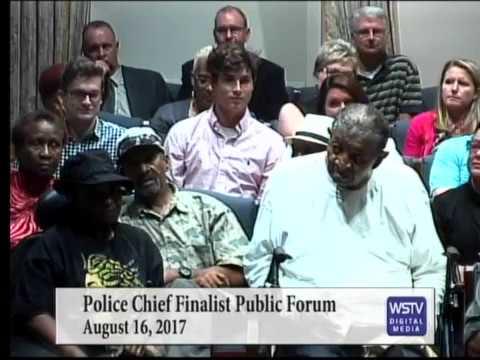 Police Chief Forum Public Forum - August 16, 2017