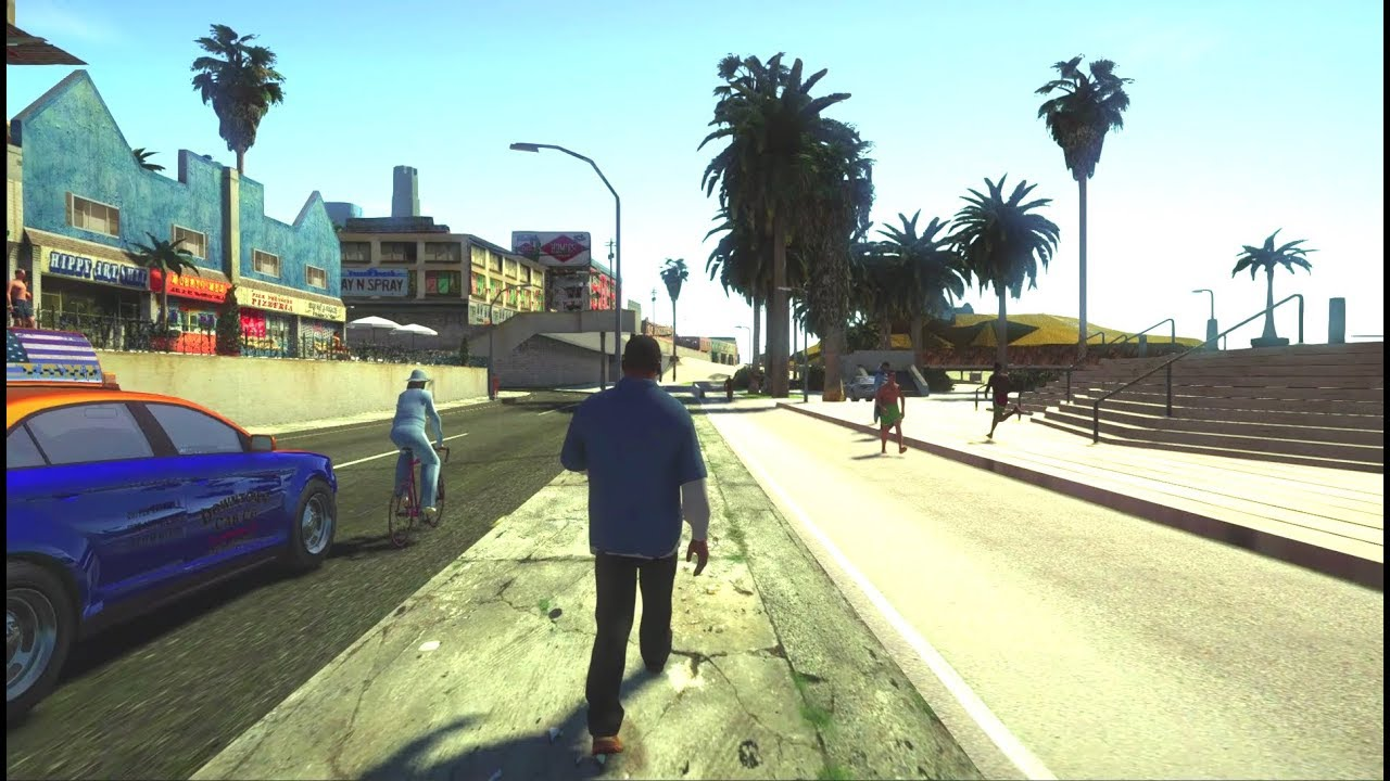 GTA San Andreas - GTA 5 Graphics Mod (SA-DX V)