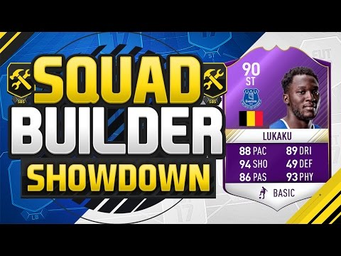 FIFA 17 SQUAD BUILDER SHOWDOWN!!! PLAYER OF THE MONTH LUKAKU!!! 90 Rated POTM Lukaku