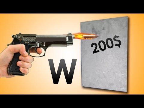 Shooting TUNGSTEN PLATE WORTH $200!