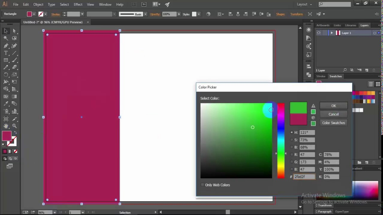 how to make Brochure size 3 part in Illustrator