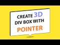 Make 3D Div With Pointer Using Html Css