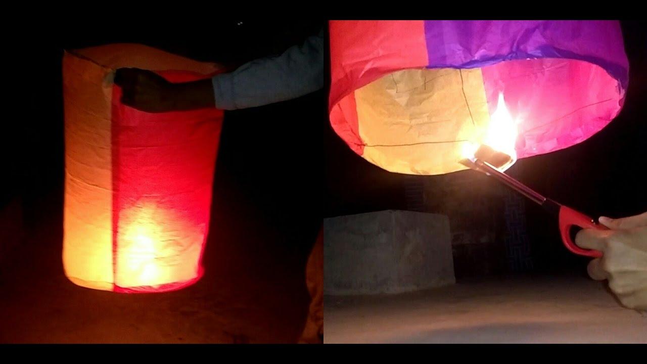 Make An Amazing Hot Air Balloon Sky Lantern Diy Youtube