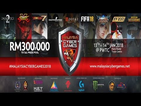 Malaysia Cyber Games 2018 (MCG 2018) Day 1 - Mobile Legends