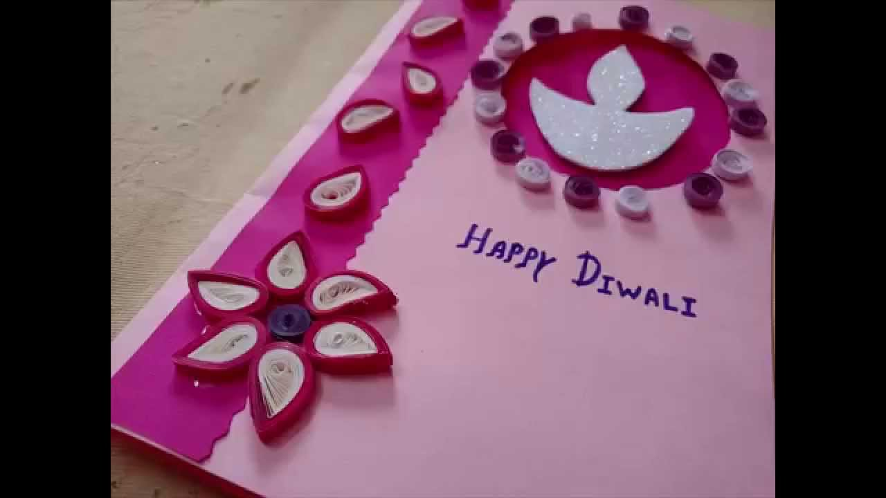 Diwali Greeting Card Making Idea With Paper Quilling Youtube