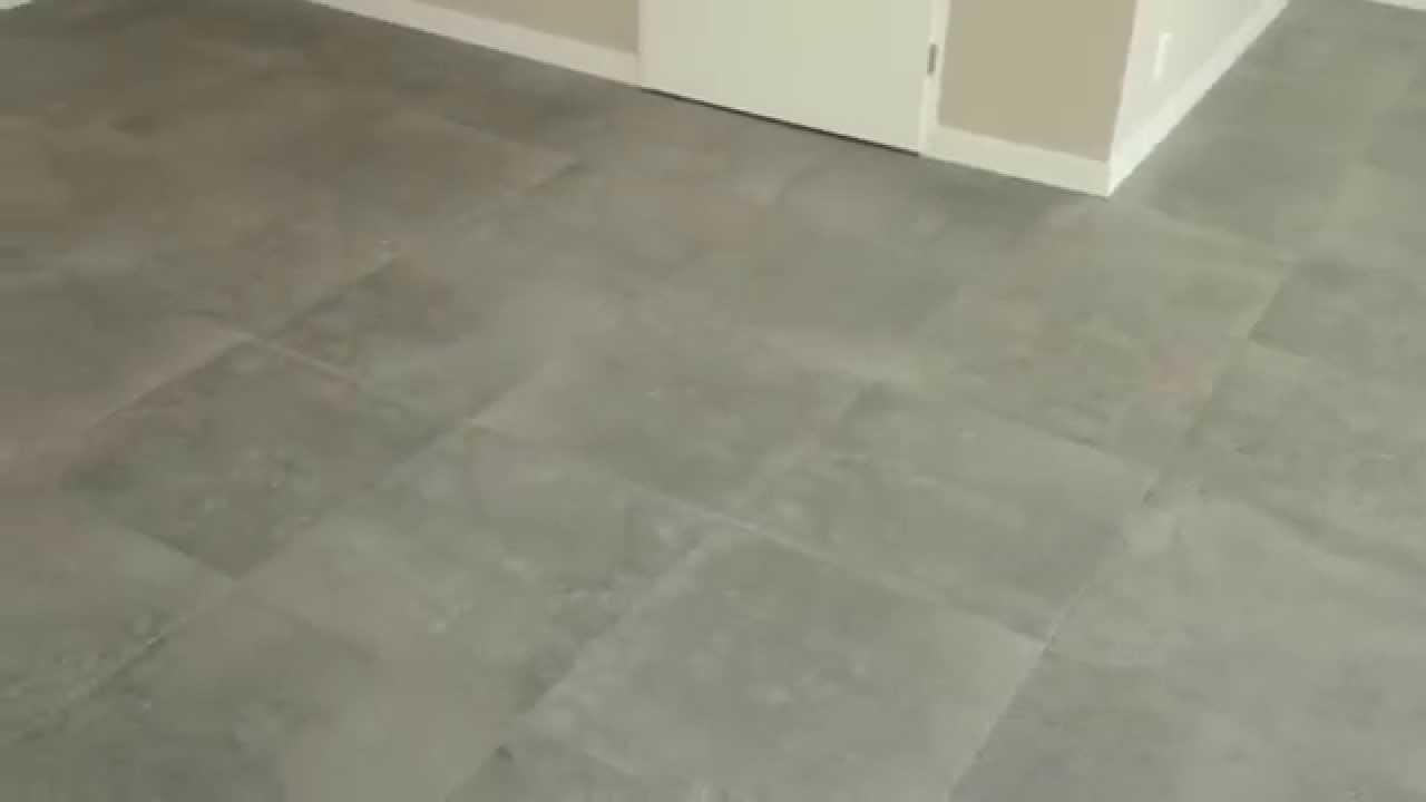 Vinyl Vloer Verven : Woonkamer vloer 60x60 betonlook youtube