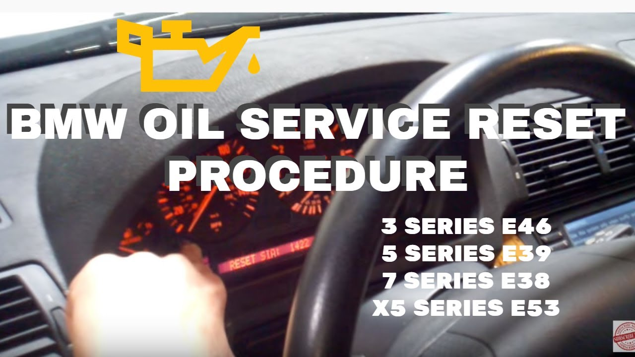 Reseting Oil Service For Bmw X5 Series E53 Or E46 3 Series