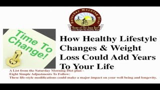 Healthy lifestyle changes & weight loss ...