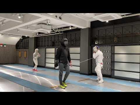 Saber training in Nexus Fencing Club