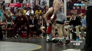 Wrestling In 60: 157 Pounds - Ruschell Vs. Short