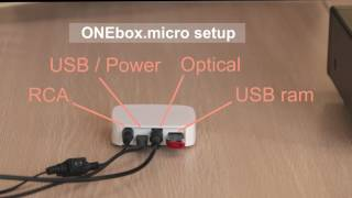 ONEbox.micro : Easy setup
