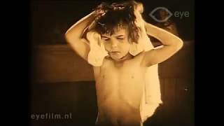"1921 Jackie Coogan in ""My Boy"". His first bath in America"