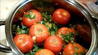 Квашеные фаршированные помидоры по одесски