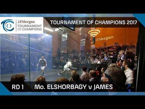 Squash: Mo. ElShorbagy v James - Tournament of Champions Rd 1 Highlights