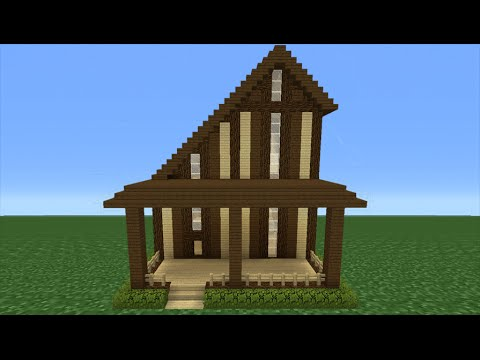 Minecraft Tutorial: How To Make A Wooden House - 18 - YouTube