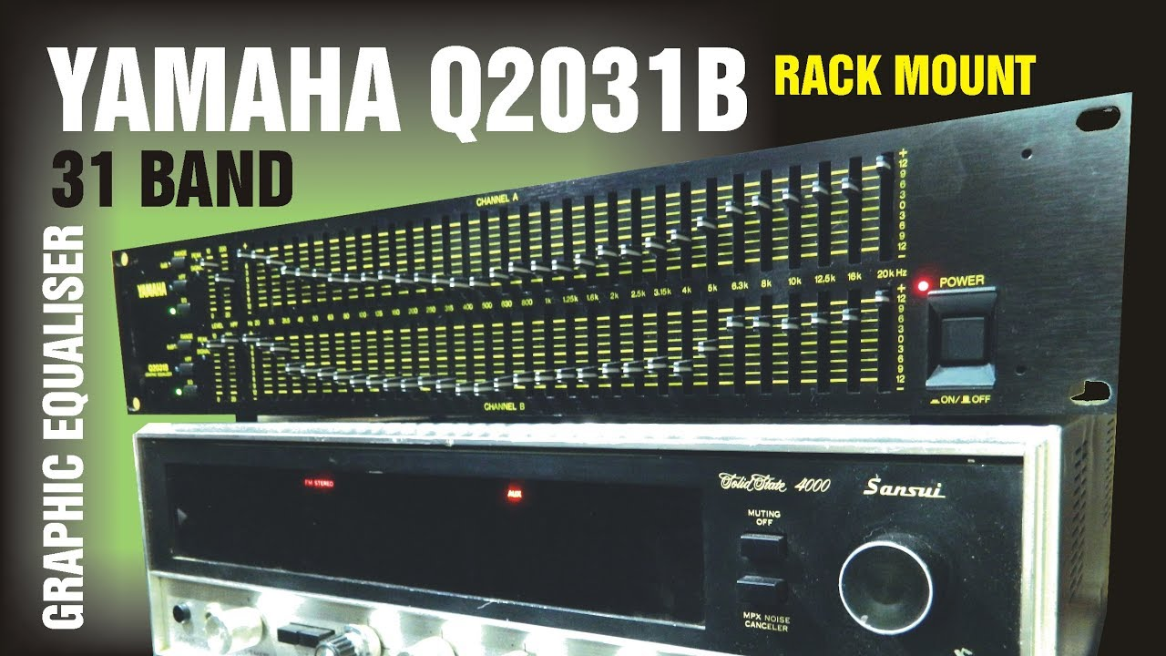 Yamaha Q2031b Rack Mount 31 Band Graphic Equaliser Youtube