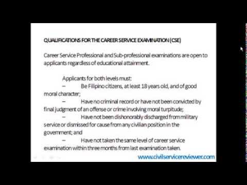 How To Apply For Civil Service Exam - Youtube