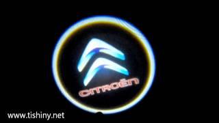 Подсветка логотипа в двери для Citroen 2014