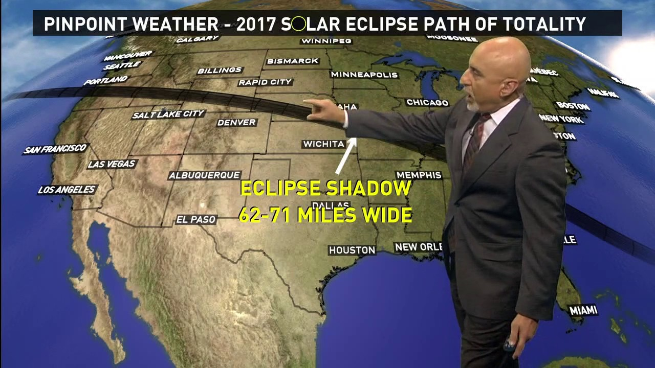 Moon begins to eclipse the sun over Delaware