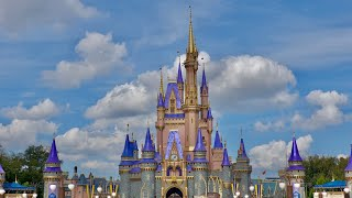 Relaxing Walk Around Magic Kingdom 2021 in 4K | Walt Disney World Orlando Florida February 2021