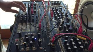 first patch with Make Noise Shared System modular synth