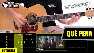 Cómo tocar QUÉ PENA de Maluma, J Balvin en Guitarra (Tutorial + PDF GRATIS) 🤦♂️😘