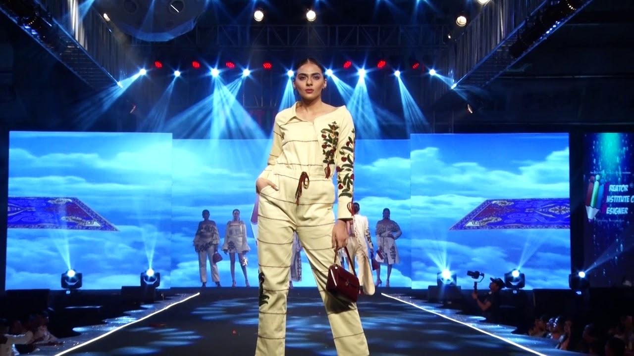 Kaleen Theme Fashion Show In Surat Creator Institute Of Designer Youtube