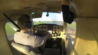 First Solo VFR Flight Cessna 152 EDLE Essen Mühlheim Traffic Pattern Flying  119.750