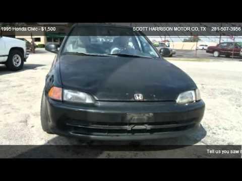 1995 honda civic ex for sale in houston tx 77038 youtube for Scott harrison motors houston tx