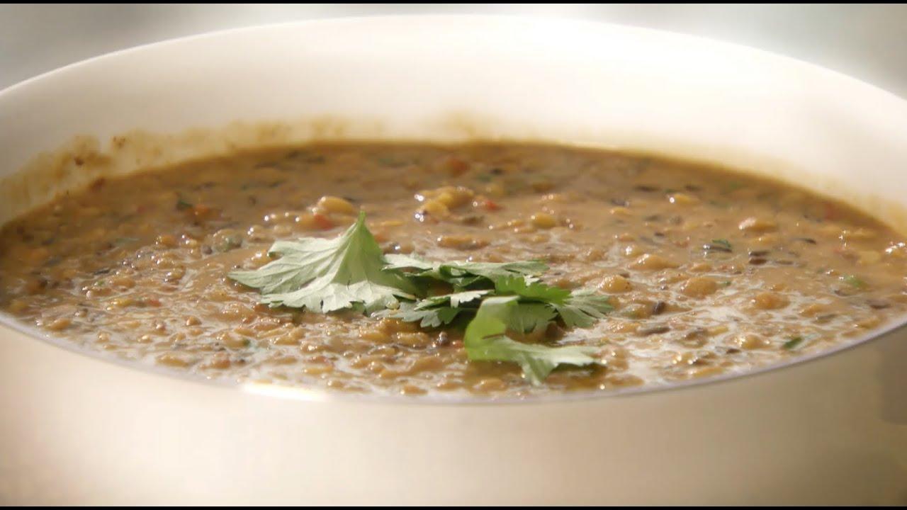 Bengal Tiger Lentil Curry and Spinach Raita with Anjum ...