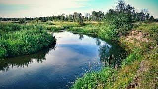 Ловля щуки спиннингом на малой реке.