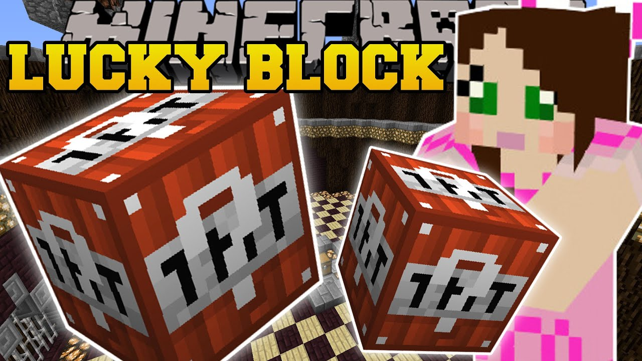 Minecraft Tnt Lucky Block Exploding Structres Tnt Weapons More Mod Showcase Youtube