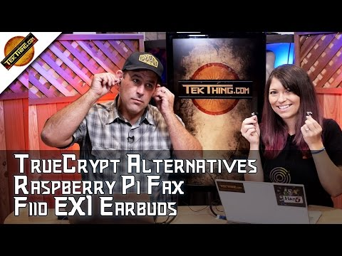 TrueCrypt Alternatives, Raspberry Pi FAX, FiiO EX1 Earbuds vs. PURO IEM 500, Find Win10 Product Key!