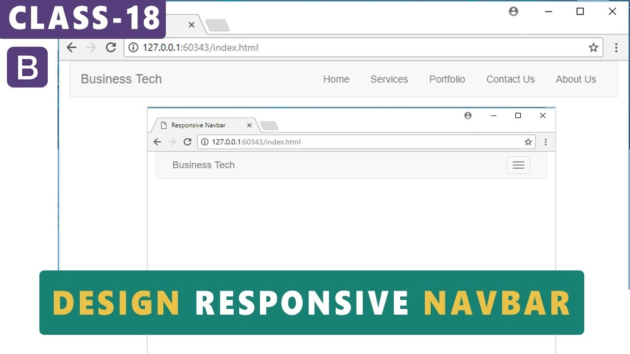 Navbar Design: Design Responsive Navbar In Bootstrap