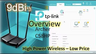 Tp-Link Archer C58HP | AC1350 High Power Wireless Dual Band Router