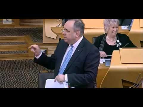 First Minister Alex Salmond owns Willie Rennie and Lib Dems