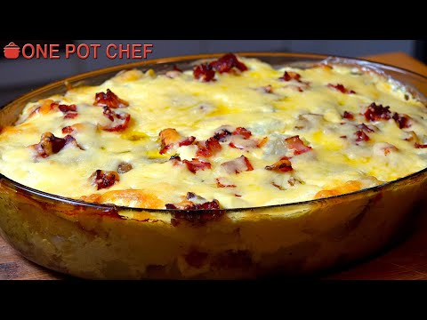 Fully Loaded Baked Potato Casserole | One Pot Chef