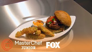 Shayne's Vegan Burger And Avocado Fries Blow The Judges Away | Season 5 Ep. 4 | MASTERCHEF JUNIOR