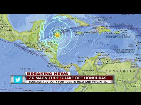 Massive earthquake centered in the Caribbean; tsunami possible for US territories